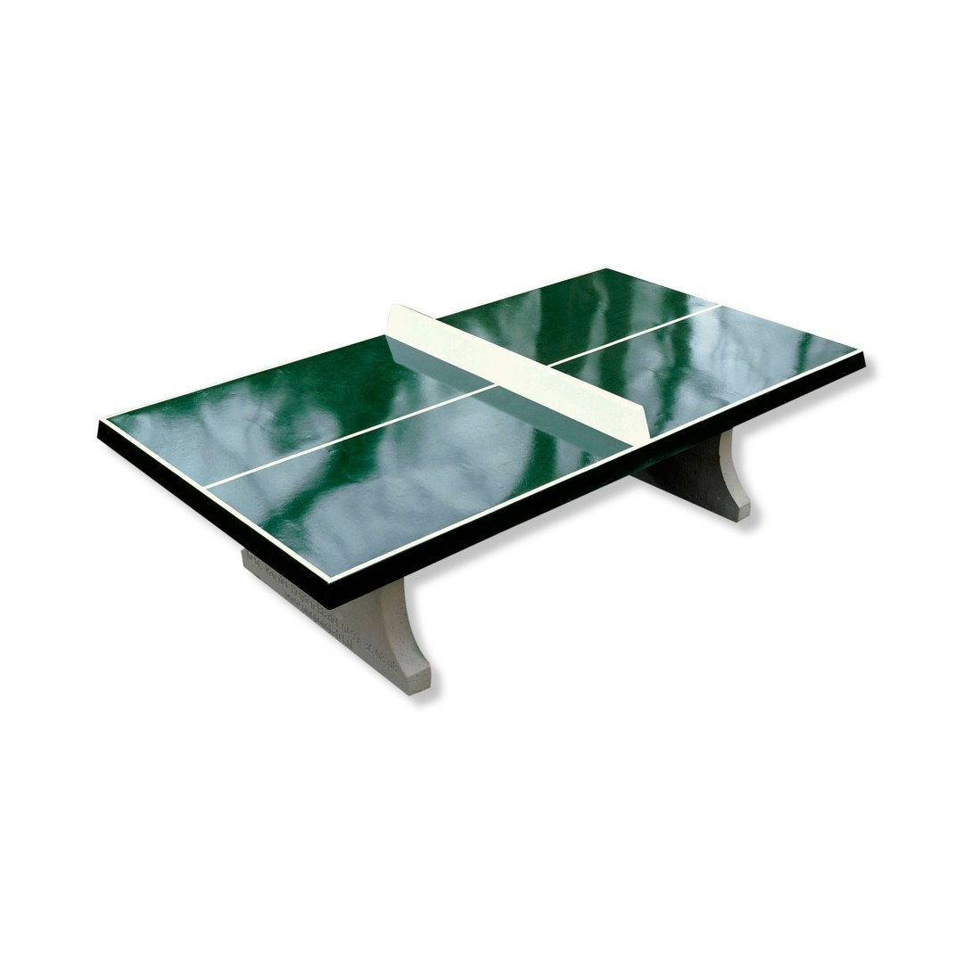 concrete ping pong table cornered outdoor kickerkult onlineshop. Black Bedroom Furniture Sets. Home Design Ideas