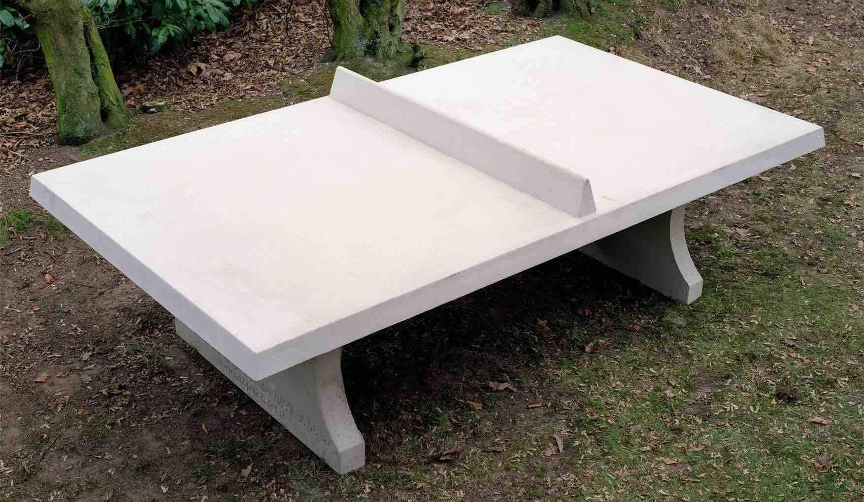tischtennisplatte aus beton eckig outdoor kickerkult onlineshop. Black Bedroom Furniture Sets. Home Design Ideas