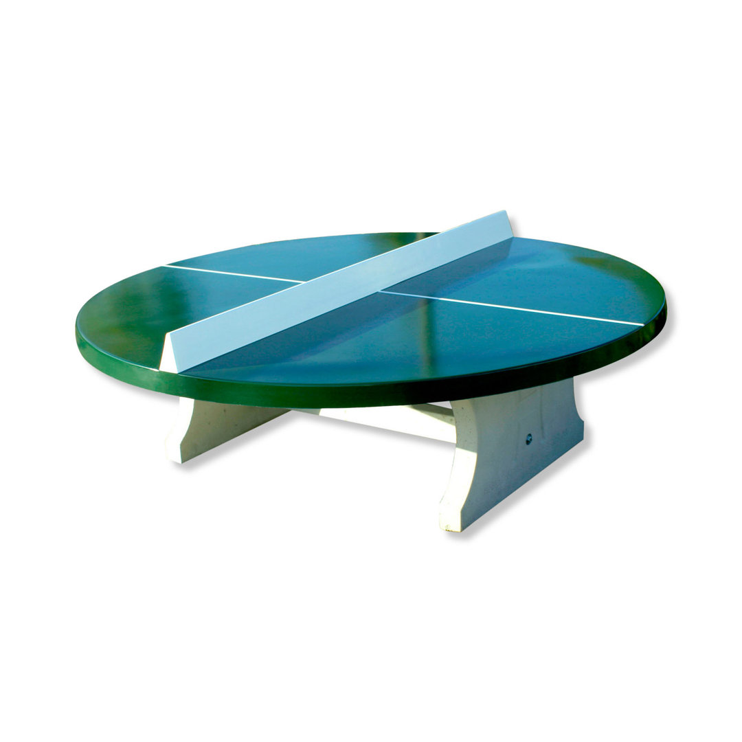 concrete ping pong table round outdoor kickerkult onlineshop. Black Bedroom Furniture Sets. Home Design Ideas