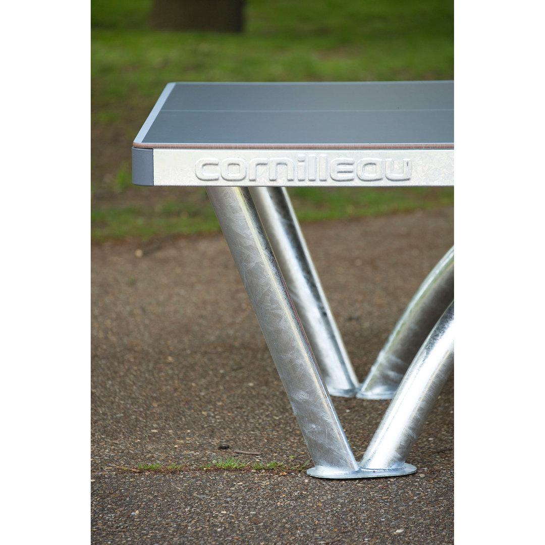Cornilleau pro park table tennis plate concrete kickerkult - Resultat tennis de table pro a ...